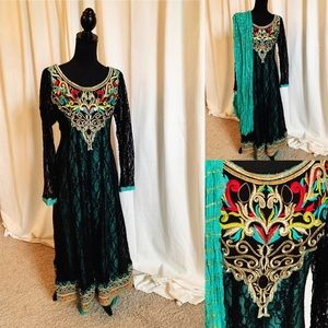 Dresses & Skirts - Pakistani Outfit in black and green